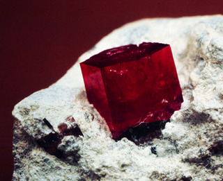 Red Beryl on Rhyolitic Matrix